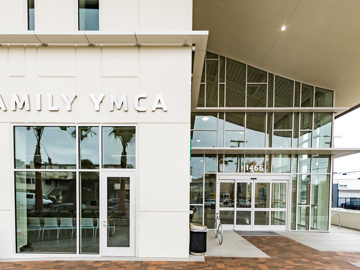 Azurelite glazing at YMCA in West Los Angeles